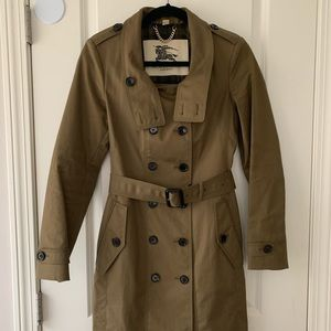 NWOT Burberry London Mid- Length Fashion Trench